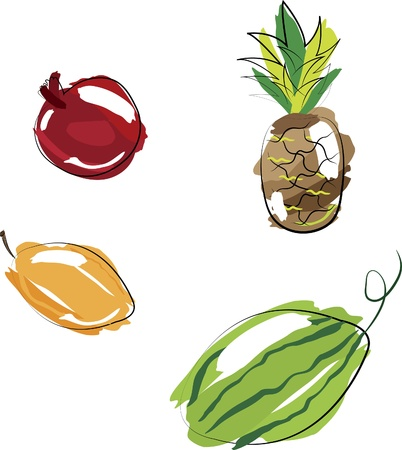 Vector illustration - set of fruits Vector