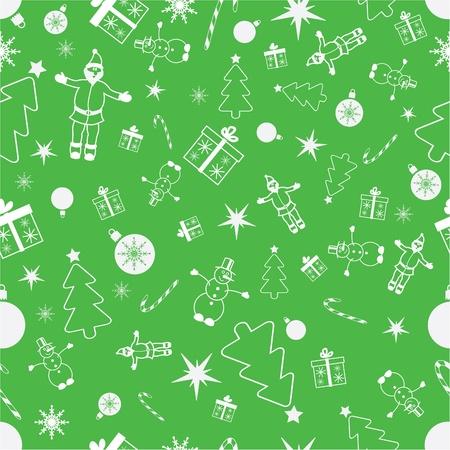 シームレスなクリスマス背景。クリスマスのパターン