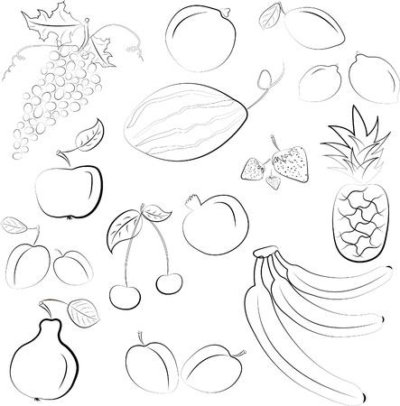 図 - 果物のセット