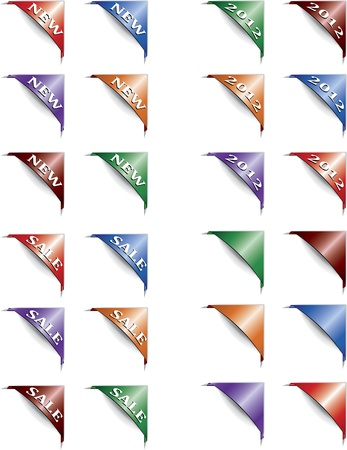 Set of paper  color tags. Vector illustration Stock Vector - 11534512