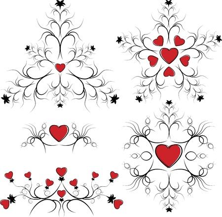 synopsis: Valentine elements for design Illustration
