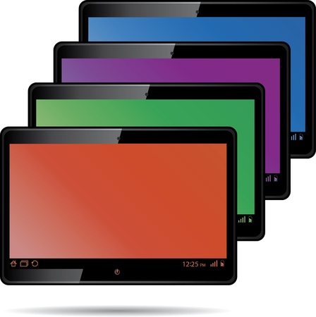 Set of digital tablets with color screen. Vector illustration Stock Vector - 12319999