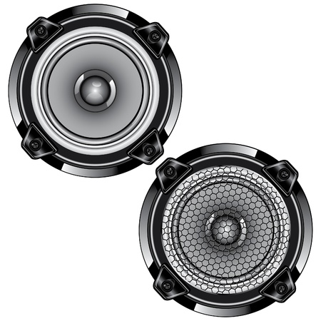 hi fi system: Audio speaker Isolated on white background