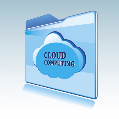 Cloud computing vector icon Stock Vector - 13644405