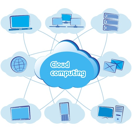 Cloud computing concept  Vector illustration Stock Vector - 13644410