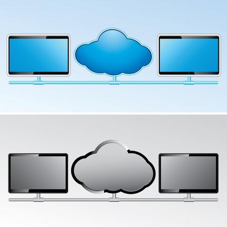 wirelessly: Cloud  network vector