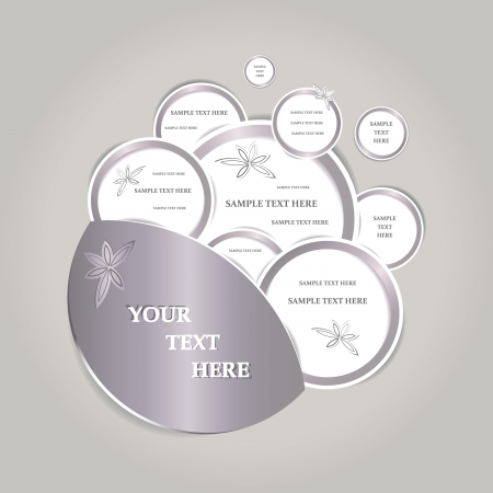 premise: Paper bubbles web design isolated  Vector illustration