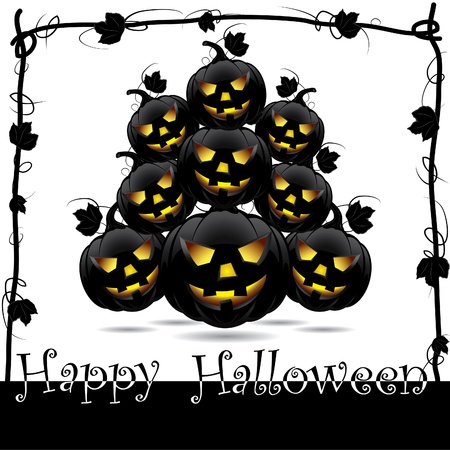 Halloween pumpkins  Vector illustration Vector