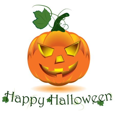 Halloween pumpkin  Vector illustration Vector