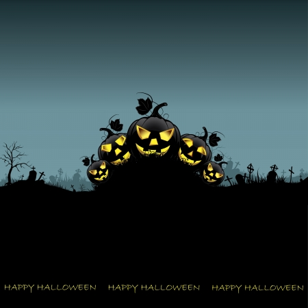 Background halloween night Vector