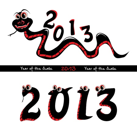 Year of the snake Vector