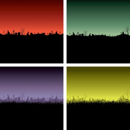 Halloween night backgrounds Vector