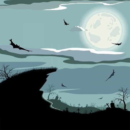 Halloween night background Stock Vector - 15234635