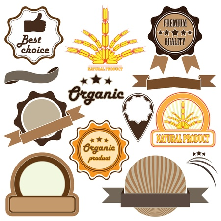 Set of  badges and labels of quality Vector