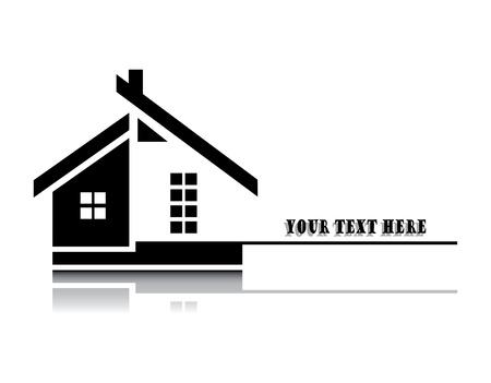 Darstellung von zu Hause auf weißem Hintergrund Vektorgrafik