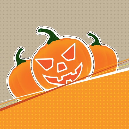 Halloween vector illustration for card Vector