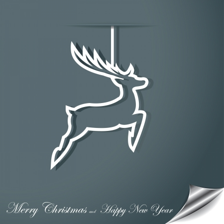 Christmas background with deer Stock Vector - 16212970