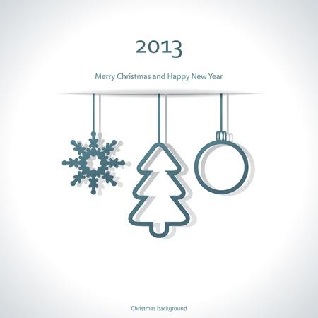 pelota caricatura: De fondo de Navidad Vectores