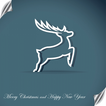 Christmas background with deer Stock Vector - 16212974