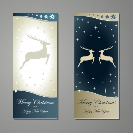 Greeting cards with deer Vector