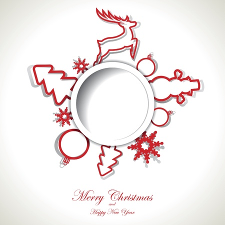 Christmas background with text place
