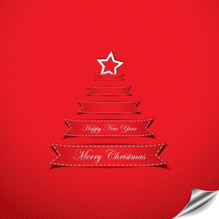 Christmas background with text place in form of Christmas tree Stock Vector - 16212990