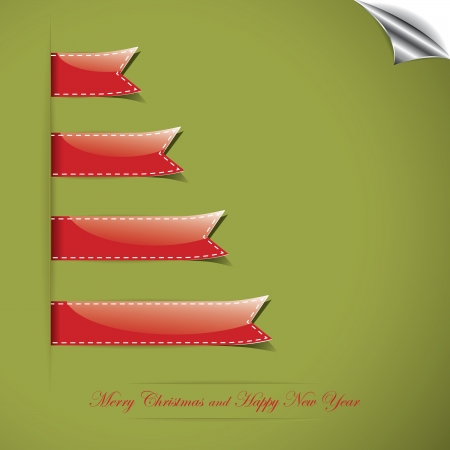Christmas background with ribbon Vector