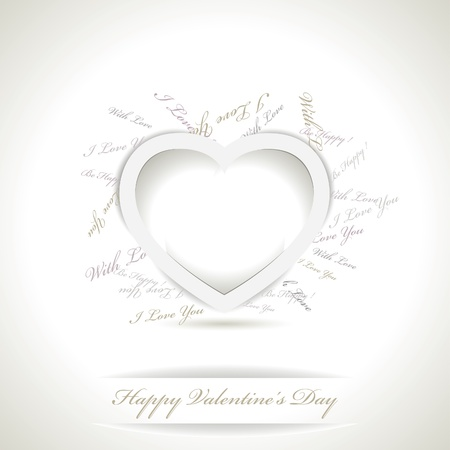 Valentines day card Stock Vector - 16327255
