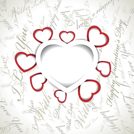 Vector Valentines day card Stock Vector - 16327239