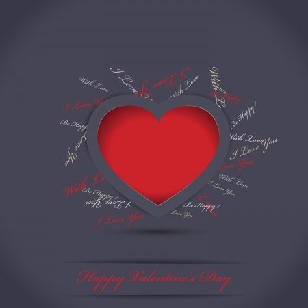 Vector Valentines day card Stock Vector - 16327252