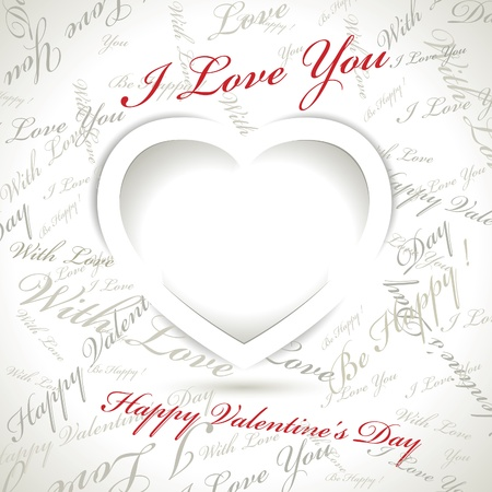 Vector Valentines day card Stock Vector - 16327253