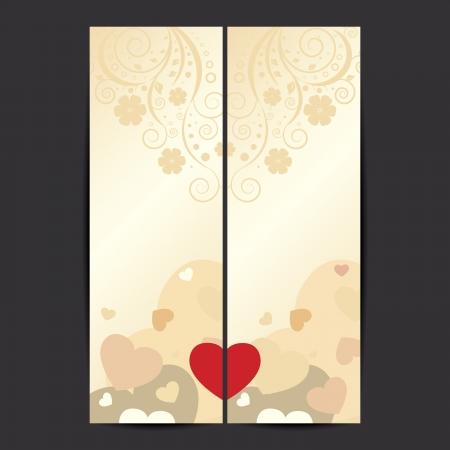 バレンタインのセット  イラスト・ベクター素材