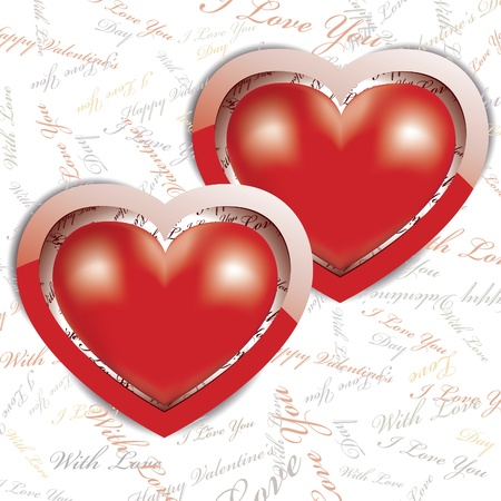 Vector Valentines day card with hearts Stock Vector - 16443961
