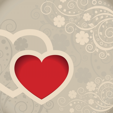 Vector Valentines day card with hearts Stock Vector - 16443954