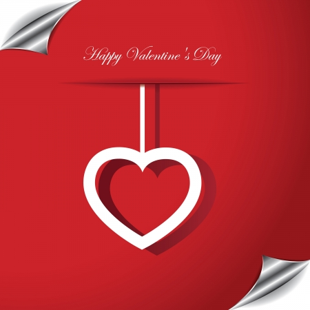 Valentines day card with heart Stock Vector - 17374298