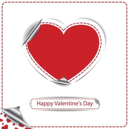 Valentines day card with heart Stock Vector - 17374300