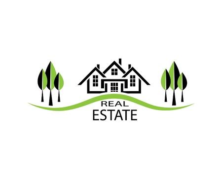 Real estate illustration house on white background