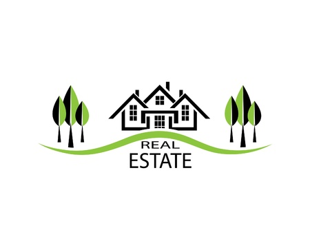 restoring: Real estate illustration house on white background