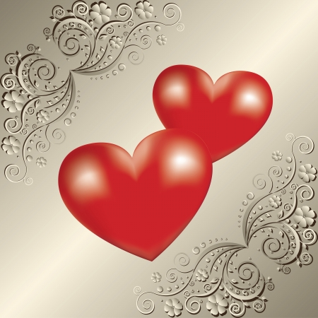 Valentine day greeting card Stock Vector - 17459693