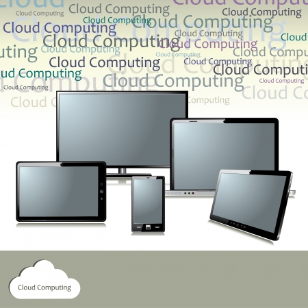 Cloud computing concept Stock Vector - 18085259