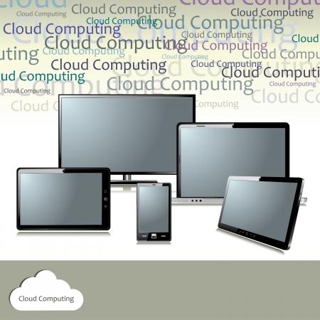 Cloud computing concept Stock Vector - 18085259