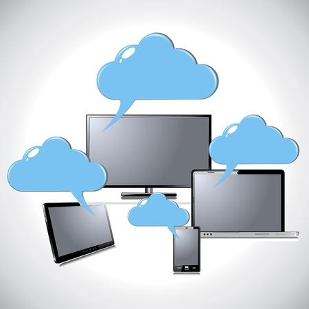 Cloud computing concept Stock Vector - 18085251