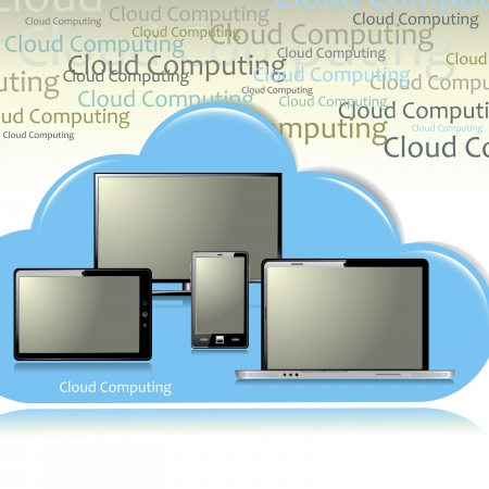 Cloud computing  Stock Vector - 18085256