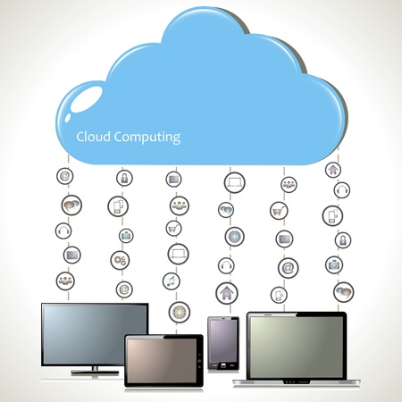 Cloud computing  Stock Vector - 18085247