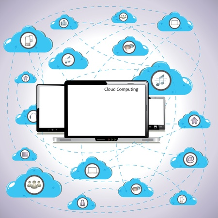 Cloud computing  Stock Vector - 18544235