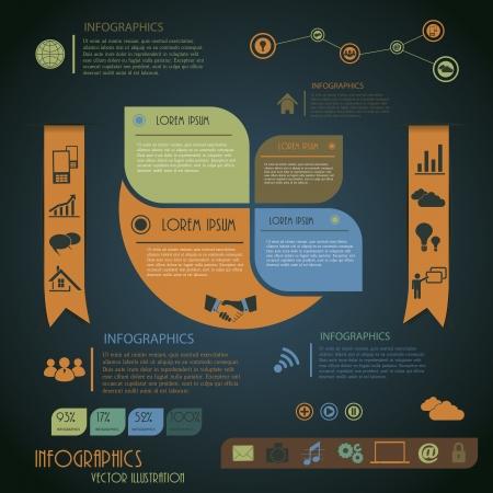 インフォ グラフィック デザイン テンプレートの図  イラスト・ベクター素材