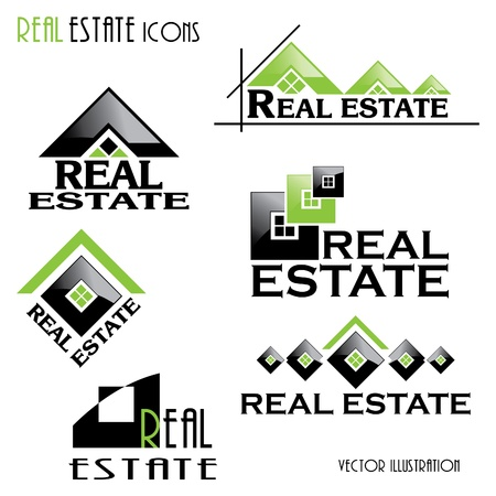 Modern Real estate icons for business design  Vector illustration