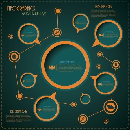 Modern design layout for business  Vector illustration