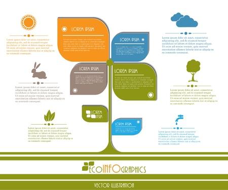 Modern design Ecology business template  Vector illustration Illustration