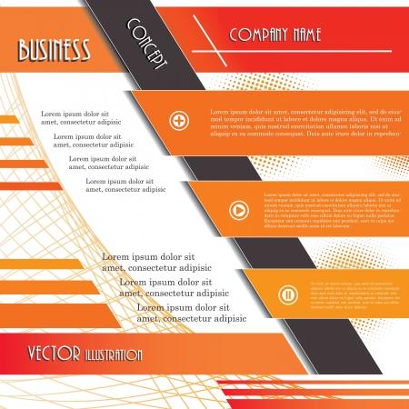 ビジネス ベクトル図テンプレートのモダンなデザインの背景